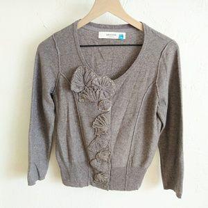 Anthropologie Sparrow Applique Cardigan Sweater M